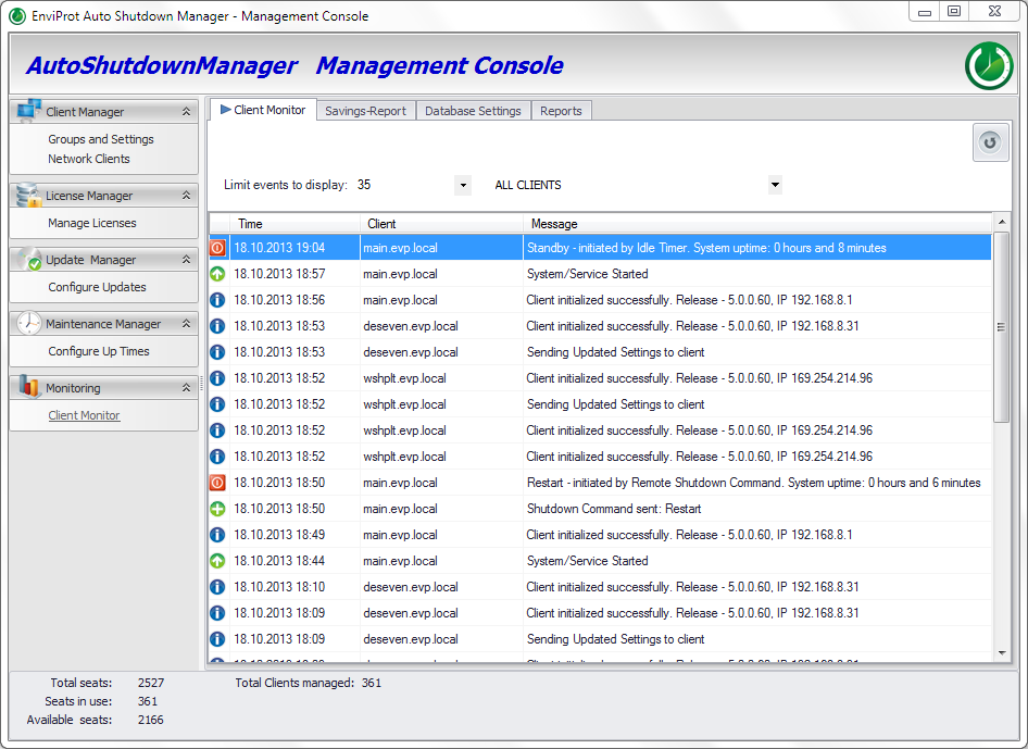 PC Power Management Client Monitor